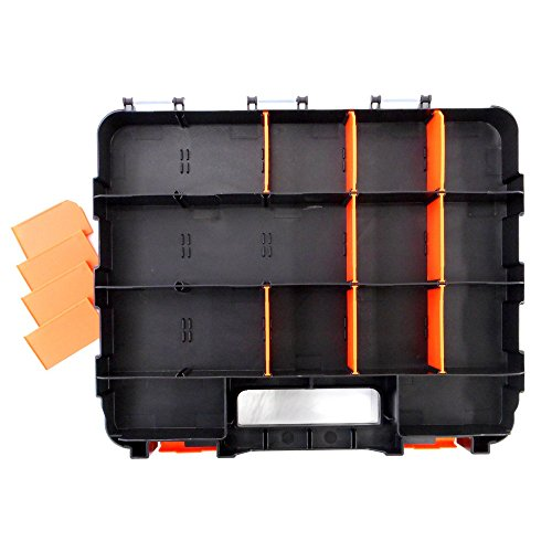 HDX 320028 34-Compartment Double Sided Organizer with Impact Resistant Polymer and Customizable Removable Plastic Dividers