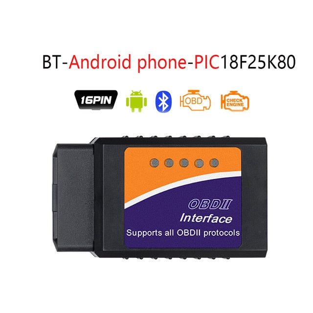 ELM327 V1.5 Bluetooth/WIFI Diagnostic Tool W/ PIC18F25K80 Chip For Android IOS
