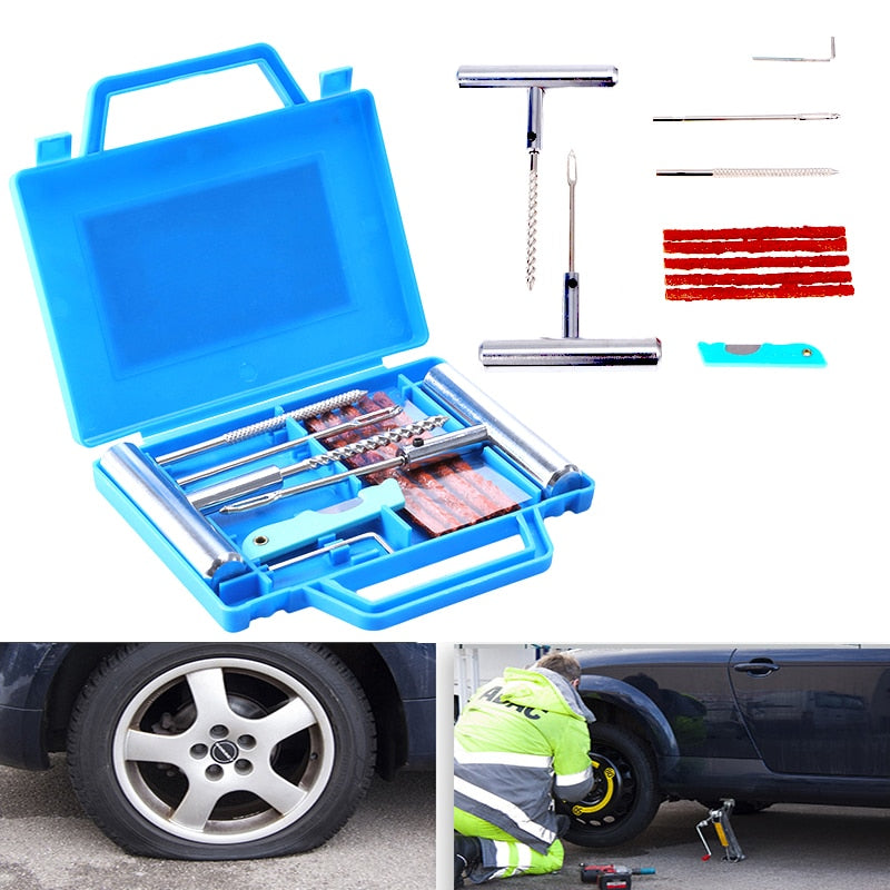 Tubeless Tire Puncture Repair Kit Plug Set
