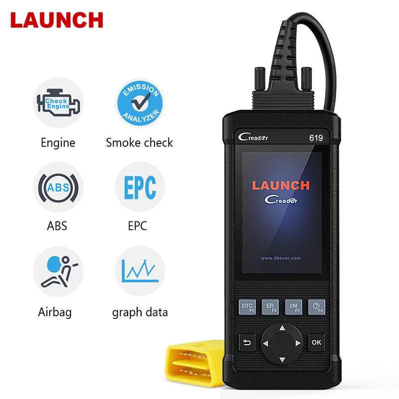Launch Engine ABS SRS O2 Sensor Monitoring  OBDII Automotive Scanner