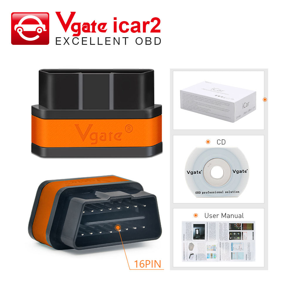 Vgate Icar2 Bluetooth/Wifi OBD2 Diagnostic-Tool for Android/PC/IOS