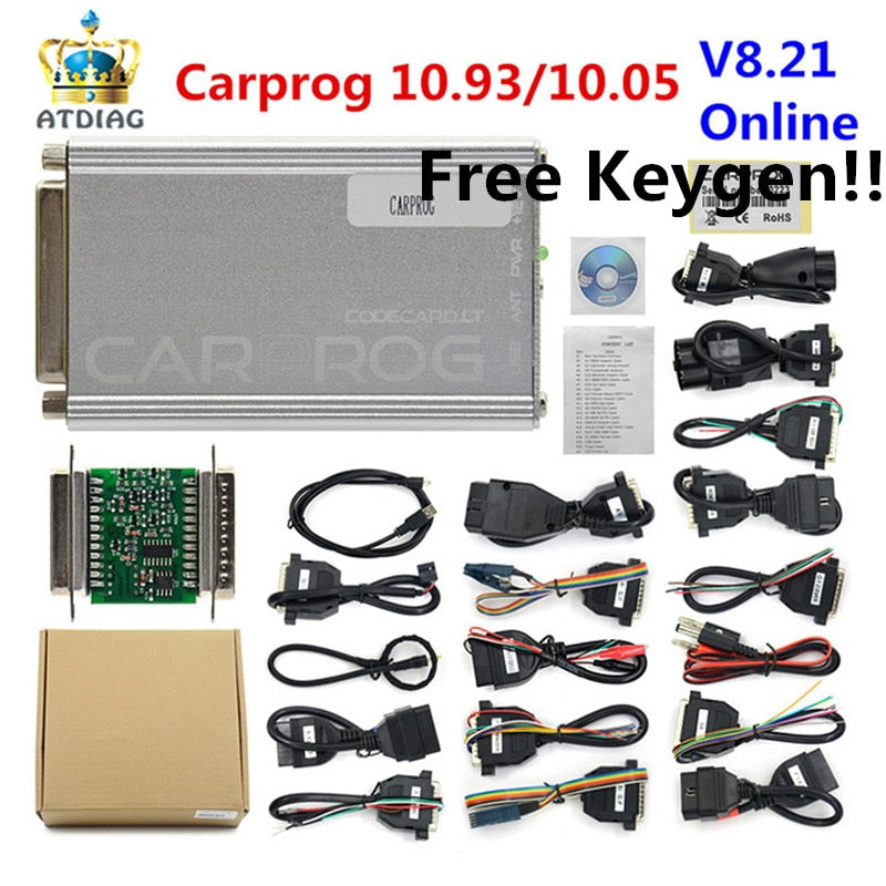 CARPROG V10.93 Car Prog ECU Chip Tuning Tool(With All 21 Items Adapters)