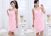 Load image into Gallery viewer, Wearable Microfiber Bath Towel Dress