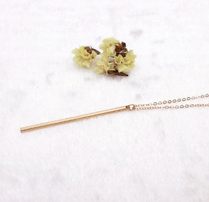 Simple long Stick Pendant Necklaces