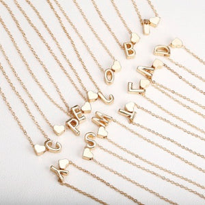 Tiny gold initial necklace (Perfect Gift for Her!)