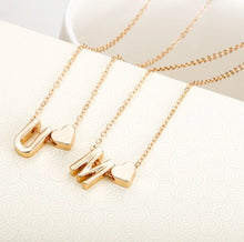 Load image into Gallery viewer, Tiny gold initial necklace (Perfect Gift for Her!)