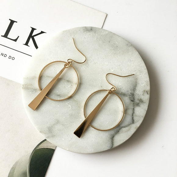 Retro Long Circle Earrings