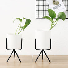 Load image into Gallery viewer, Ceramic Flower Planters with Stands (6 pcs)