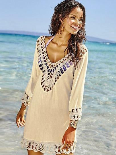 Tasseled Crochetgo Cover-Ups Swimwear