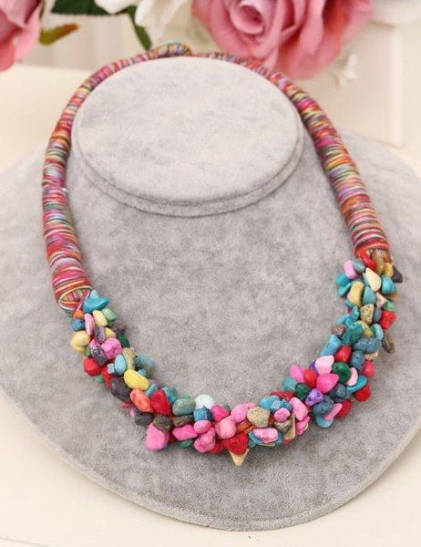 Women s Bohemia Style Coral Stone Necklace
