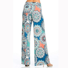 Load image into Gallery viewer, Bohemian Printed Wide Waist Casual Comfortable Wide Leg Yoga Pants