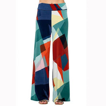 Load image into Gallery viewer, Color Blocks Bohemian Printed Wide Waist Casual Comfortable Wide Leg Yoga Pants