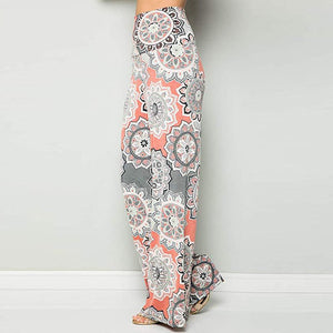 Bohemian Printed Wide Waist Casual Comfortable Wide Leg Yoga Pants