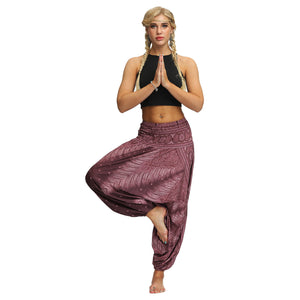 New Bohemian Digital Printing Women's Sports Fitness Yoga Pants