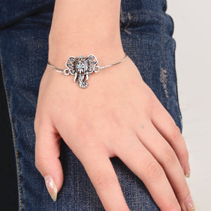 Hollow totem elephant ornament Bohemia bracelet