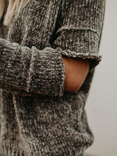 Load image into Gallery viewer, Knit Round Neck Hole Long Sleeve Winter Sweater Tops