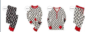 Family Christmas pajams printing set Xmas family suit -5