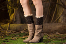 Load image into Gallery viewer, Boot cuff thick short-sleeved thick thick bamboo knit wool yarn socks - 12