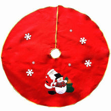 Load image into Gallery viewer, Christmas Santa Claus Tree Skirt Embroidery Decoration Ornaments Xmas Tree Apron
