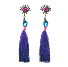 Load image into Gallery viewer, Fashion best tassel long earrings 5 colors 1 pair for jewelry accessories bohemia style Xmas party