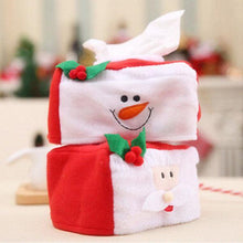 Load image into Gallery viewer, Lovely Durable Christmas Decorations Christmas Applique Rectangle Tissue Box Cover