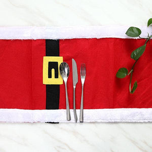 180X35CM Christmas Table Runner Table Mat Set Cotton Tablecloth