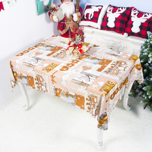 Christmas Tablecloth Cartoon Polyester Washable