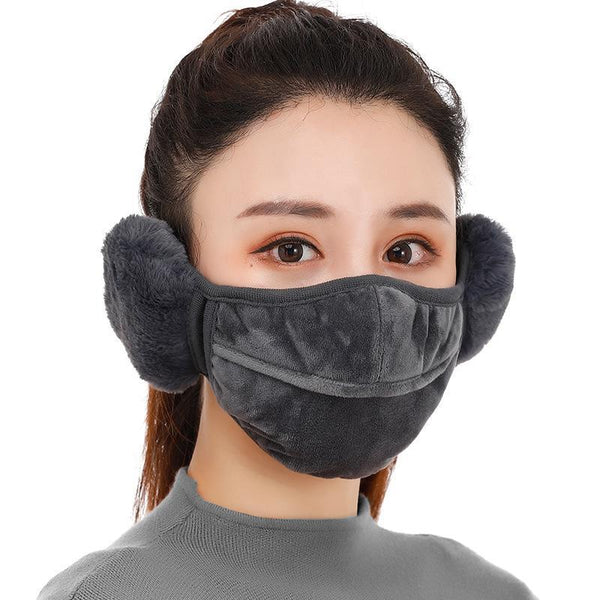 Winter Dust-proof Warm and Cold-proof Female Earmuffs Cover The Riding Opening The Nose Is Exposed Breathable Ears