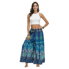 Load image into Gallery viewer, New Ethnic Style Casual All-match Wide-leg Pants with Waist Loose Pants