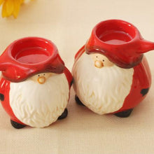 Load image into Gallery viewer, Cute Santa candle holder Xmas     Christmas party