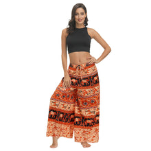 Load image into Gallery viewer, Bohemian Print Ethnic Loose Wide-leg Pants