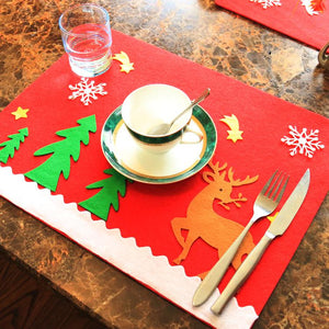 Christmas Snowman Snowflake Holiday Table Mat
