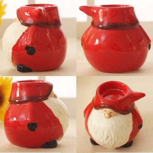 Cute Santa candle holder Xmas     Christmas party