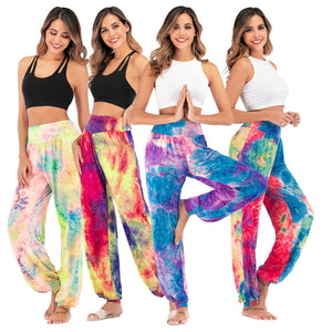 Women's New Casual Tie-dye High-waisted Trousers