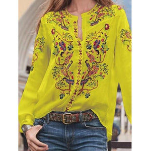 Explosions loose cardigan printed long-sleeved shirt tops