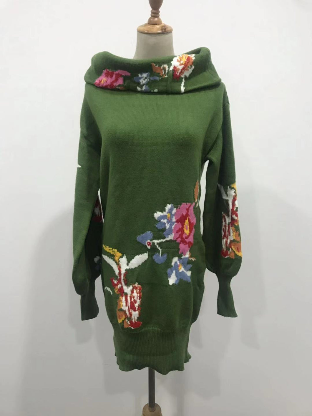 Women's New Hooded Long-sleeved Loose Printed Sweater
