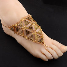Load image into Gallery viewer, Retro exaggerated character fashion geometric triangle alloy hand-foot bracelet jewelry