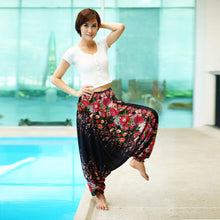 Load image into Gallery viewer, Digital Printed Women's Elastic Waist Loose Yoga Casual Pants