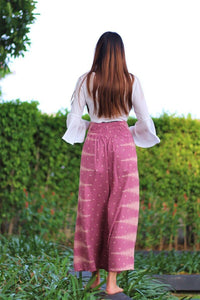 Ethnic style elegant split wide leg pants women loose fitness yoga pants-1