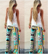 Load image into Gallery viewer, Women Yoga Pants Printed Low-waist Wide-leg Trousers