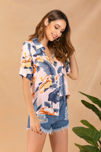 Load image into Gallery viewer, Women's Summer Lapel Print Single Breasted Shirt