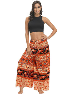 Bohemian Print Ethnic Loose Wide-leg Pants