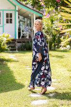 Load image into Gallery viewer, Fashion Floral Print V Neck Batwing Sleeve Boho Maxi Long Dress