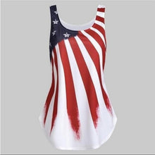 Load image into Gallery viewer, Summer Independence Day Sleeveless Printed Camisole T-shirt