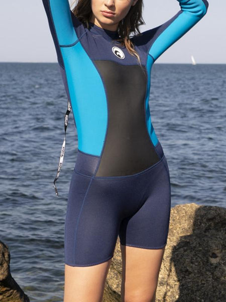 Long Sleeve Shorts Sexy Beach Surf Diving Suit