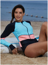 Load image into Gallery viewer, One Piece Surf Suit Long Sleeved Swimsuit