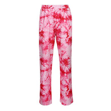 Load image into Gallery viewer, Women's Pink Purple Tie-Dye Casual Wide Leg Pants