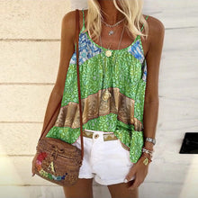 Load image into Gallery viewer, Summer New Product Loose Print Camisole Vest Top