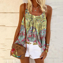 Load image into Gallery viewer, New Women's Summer Print Loose Sling Top