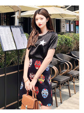 Load image into Gallery viewer, Summer New Temperament National Style Facebook Print Short Skirt